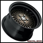 15 KLUTCH SL1 Wheels Rims Bronze w Black 35 Step Lip Fits Volkswagen Cabrio