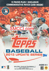 16 Box CASE 2013 Topps Update Traded Baseball Blaster Yasiel Puig Wacha Patches