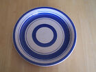 Royal Norfolk BLUE RINGS Set of 3 Dinner Plates Beige background