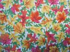 Indian Summer Hoffman Fall Autumn Maple Oak Leaves Leaf Fabric Out of Print Yard
