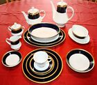 Noritake Legacy Valhalla #2799 Cobalt Blue 7 Piece Place Setting For 12 Plus