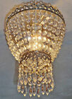 VINTAGE STYLE CHANDELIER LIGHT SHADE OLD CHROME GLASS DROPLETS 2TIER RETRO DROPS