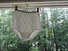 80'S VANITY FAIR WHITE ANTRON NYLON-BRUSH LINER LACE OVERLAY PANTIES-5-NWOT