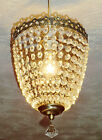 VINTAGE RETRO STYLE NEW CHANDELIER PENDANT LIGHT GLASS DROPS BAGUETTE BAG POSH