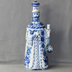 BEAUTIFUL RUSSIAN GZHEL PORCELAIN FLASK OR BOTTLE hand painted