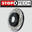 FRONT LEFT  RIGHT Stoptech SportStop Cross Drilled Brake Rotors STCDF44092
