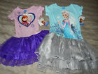 Frozen girls sparkle dresses w/tulle skirts sizes xsmall 4/5 small 6/6x med 7/8