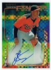 2014 Topps Finest Jonathan Schoop X-Fractor On Card Auto RC 033 149 Orioles