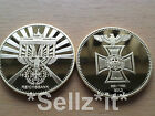 1 oz GOLD NAZI IRON CROSS EAGLE COIN WW1 WW2 REICHSBANK GERMANY BANK TOKEN BAR