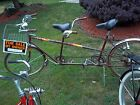 1970s Deluxe Twinn Tandem Bicycle Vintage Double seat make offer XTRA PARTS