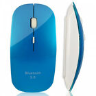 Slim 3D Bluetooth Wireless Optical Mouse for Macbook Windows7/XP/Vista Laptop Bl