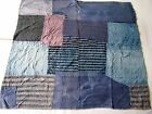 Japanese vintage patched lag.rustic style quilting.Japanese old fabric.