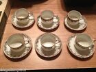 LOT OF 6 YAMASAN CHINA SMALL CUPS AND SAUCERS OCCUPIED MADE IN JAPAN FLOWERS