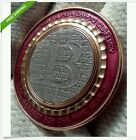Limited .999 SOLID physical copper Bitcoin BTC promotional coin USA Not Litecoin