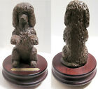 Vintage Signed 1995 Michael Park WOODEN Irish Water Spaniel Music Box Vintage