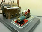Vintage 1960's Western Germany WILESCO Tin Toy STEAM ENGINE metal D 10 with Box