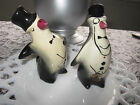 Vintage penguin in a tux wearing a monocle Bow ties Salt & Pepper Shaker