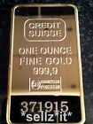 Replica Credit SUISSE 1oz 24ct Gold Plated Bullion Bar Ingot One Ounce new Pamp