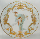 ANTIQUE FRENCH HAND PAINTED ALLEGORICAL PORTRAIT CABINET PLATE #2