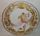 ANTIQUE FRENCH HAND PAINTED ALLEGORICAL PORTRAIT CABINET  PLATE