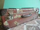 Vintage antique old rare Bulgarian totalitarian communist travel large suitcase