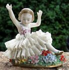 Sitzendorf German Porcelain Dresden Lace Figurine, Figure 3