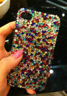 Best quality handmade bling mix rhinestone phone case for iphone4 4s@