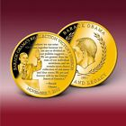 LIFE AND LEGACY OF BARACK OBAMA COIN CU, LAYERED IN 24K GOLD