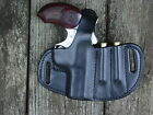 Bond Arms Snake Slayer IV leather holster and extra ammo .45 / 410 holder  black