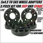 5 Hubcentric Wheel Adapters 5x45 To 5x5 125 Inch  Adapt Jeep Jk Rims On Tj Yj