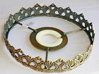 CHANDELIER LIGHT PENDANT 1-TIER FRAME ONLY ANTIQUE BRASS NO CRYSTALS / DROPLETS