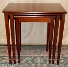 VINTAGE Henkel Harris Solid Mahogany Stacking/Nesting Set of 3 Tables #5420