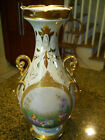 ANTIQUE HAND PAINTED VASE URN withyn double handles-red mark of 78.1:92???