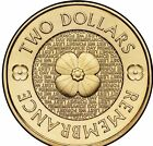 2012 $2 Two Dollar - Poppy Remembrance Day Design - Free & Fast Postage  - Mint