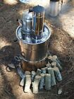 Samovar Charcoal Water Heater 5 L Boal Camping Tent Caravan Chrome Kettle