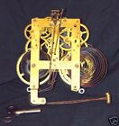 Antique Sessions Bim Bam Mantel Clock Movement Parts & Key-Steampunk