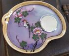 Vintage Luster Ware Mirror - Made in Japan - Hand Painted with Bird