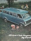 Automobile/Car Sales Brochure Advertising Catalog All-New Club Wagons Ford 1968