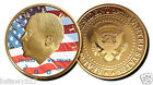 BARACK OBAMA JFK HALF DOLLAR 24KT GOLD  PROOF COIN NEW*
