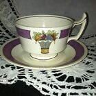 WEDGWOOD TEACUP  DIRECTOIRE Purple Band Rare TEA CUP AND SAUCER