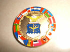 Cased multi country 14kt plated US Air Force OIF Commemorative Challenge Coin
