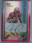2006 Score Select Red Auto Vernon Davis Rookie RC San Francisco 49ers 01 10=1 1!