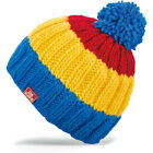 New with Tags Dakine Kids Farley Pom Beanie Blue Yellow Red Youth