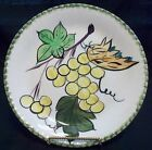 VINTAGE HAND PAINTED P V PLATE ITALY OR FRANCE YELLOW GRAPES GREEN EDGE