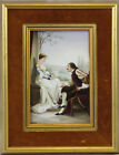 Large 19 C French Or German Hand Painted porcelain plaque Signed