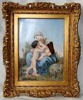 Very Large Signed German 19 century hand painted porcelain plaque