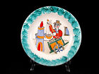 Desimone Italy Art Pottery Plate Man with Picasso Face & Cart