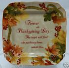 222 FIFTH AUTUMN CELEBRATION SET OF 4 SQUARE PLATES  ~ APPETIZER ~ THANKSGIVING