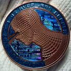 RARE Holographic .999 SOLD physical copper Bitcoin BTC promotional Bit coin USA!