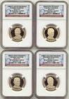 2014 S Presidential Dollar 4 Coin Proof Set NGC PF69 Ultra Cameo UC PR69 1